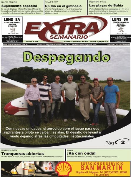 Tapa Semanario Extra del 19-10-18