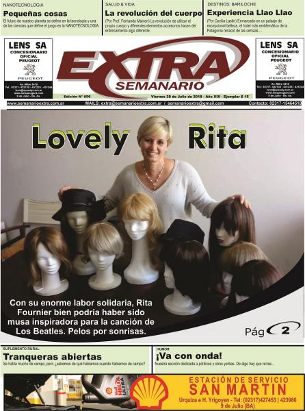 Tapa Semanario Extra del 20-07-2018