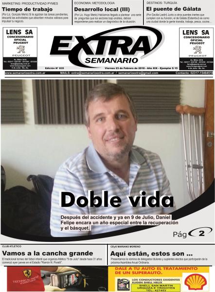 Tapa Semanario extra del 23-02