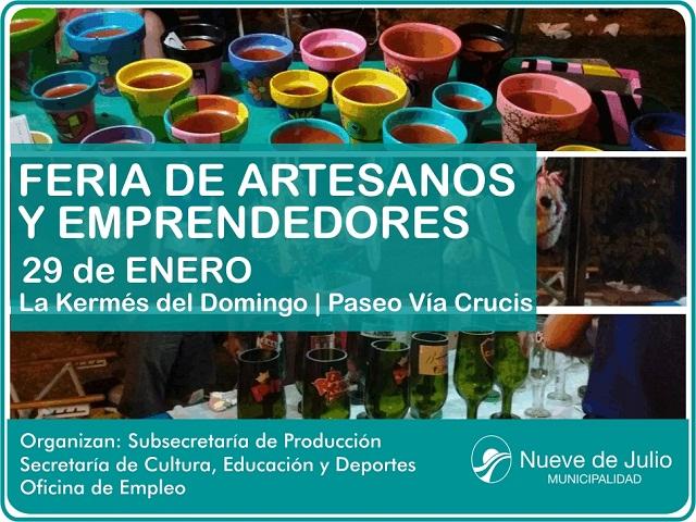 Feria de Artesanos en via crucis