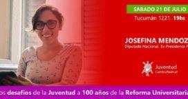 Josefina Mendoza en 9 de Julio