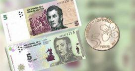 Extienden la validez de los billetes de Cinco Pesos
